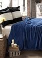 Mollia Soft Touch Tek Kişilik Battaniye Mavi